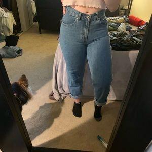 Levi's high waisted mom jeans